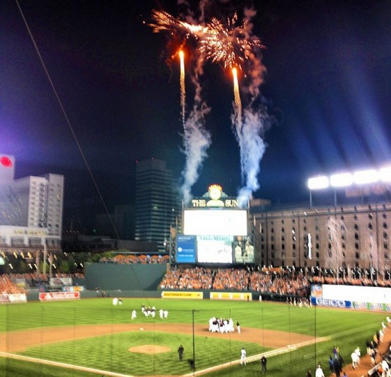 The Orioles celebrate their first division title since 1997. Picture taken Sept. 17, 2014.
