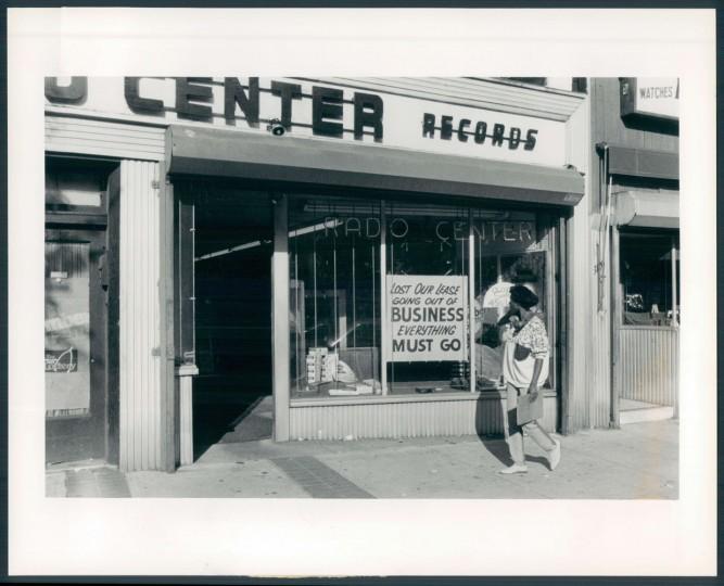Sept. 24, 1987. Exterior of Radio Center, 3118 Greemount. Sun file photo.