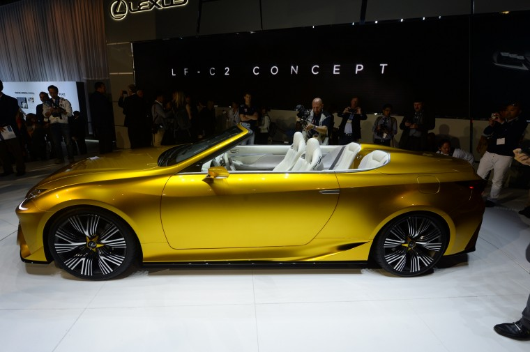 The Lexus LF-C2 Concept car is unveiled at the Los Angeles Auto Show media preview days, November 19, 2014 in Los Angeles, California. (Robyn Beck/AFP/Getty Images)