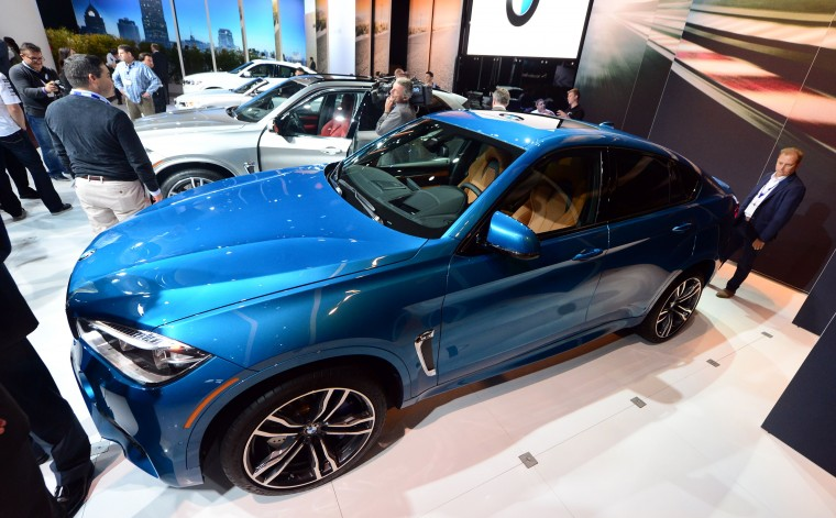 The newly unveiled BMW X6M on display at the LA Auto Show's press and trade day in Los Angeles, California on November 19, 2014. Nearly 60 North American and World vehicle debuts will be unveiled at this years auto show which opens to the public from November 21 to 30. (Frederic J. Brown/AFP/Getty Images)