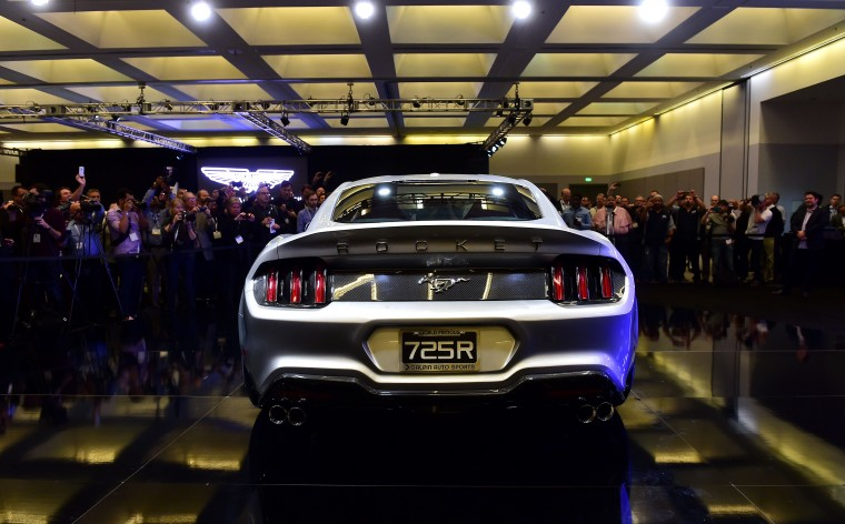 The Galpin Rocket is unveiled at the LA Auto Show's press and trade day in Los Angeles, California on November 20, 2014. The LA Auto Show which opens to the public on November 21 and will run until November 30. (Frederic J. Brown/AFP/Getty Images)