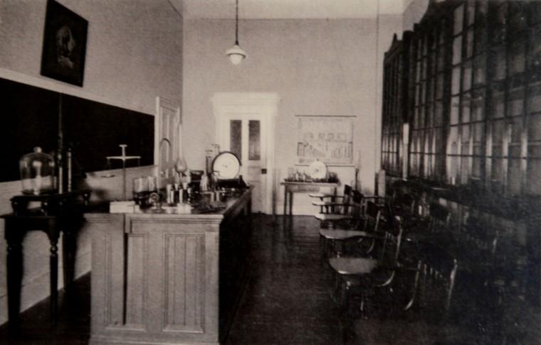 A laboratory at Mount de Sales.