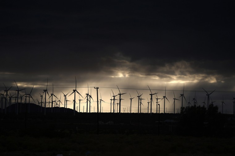 Windmills are seen in Mojave, California. (Lucy Nicholson/Reuters)
