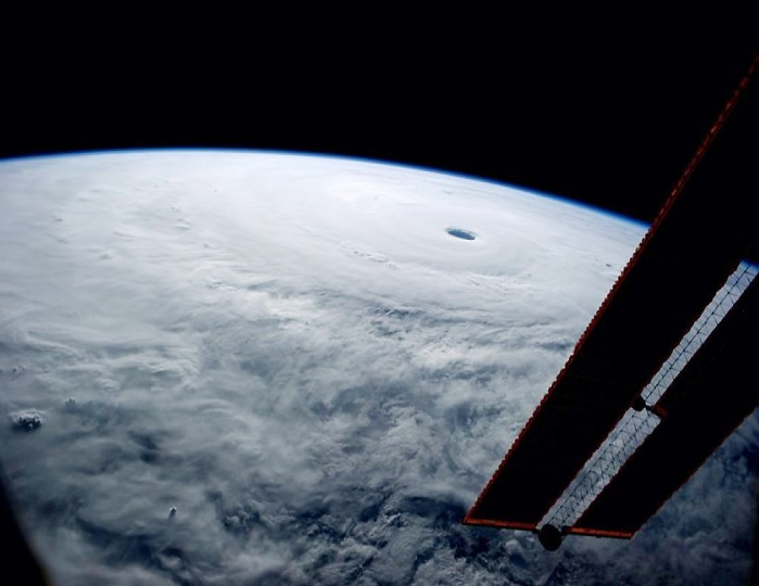 On October 9, a picture of Super Typhoon Vongfang. Wiseman said on Twitter that he had seen many from the ISS, but none like this. (Reid Wiseman/NASA)