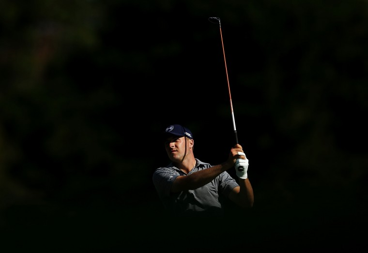 Jordan Spieth of the United States plays his approach shot on the 18th hole during day three of the Australian Open at The Australian Golf Course in Sydney, Australia. (Mark Metcalfe/Getty Images)