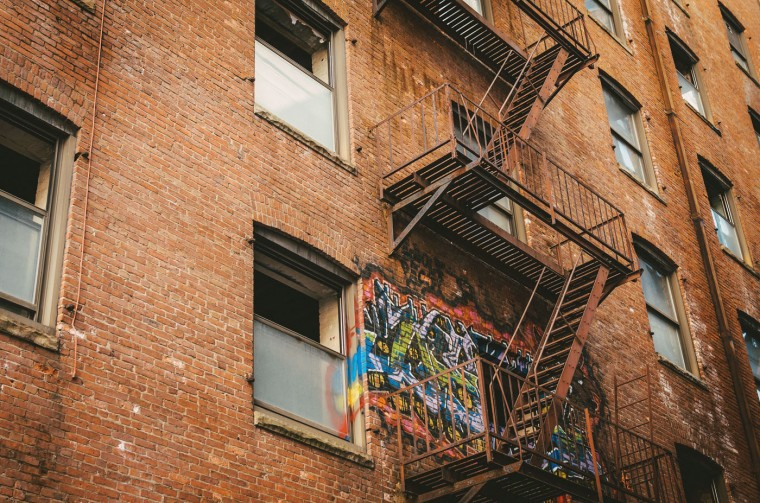 Fire Escape- Downtown, Baltimore, MD