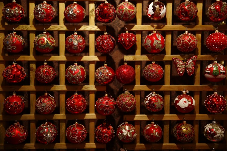 Glass baubles Christmas decorations are displayed at the Silverado manufacture of hand-blown Christmas ornaments in the town of Jozefow outside Warsaw December 2, 2014. REUTERS/Kacper Pempel