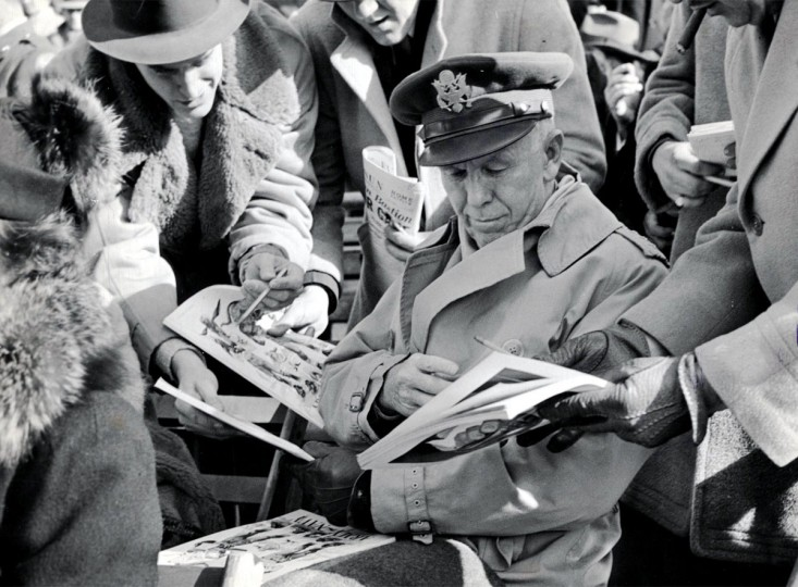 Gen. George Marshall is pictured at the Army-Navy game on Dec. 2, 1944. (Baltimore Sun file photo)