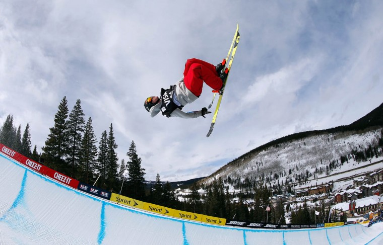 Benoit Valentin of France competes in the qualifying round of the FIS Freestyle Ski World Cup 2015 men's ski halfpipe heat 1 during the USSA Grand Prix on December 3, 2014 in Copper Mountain, Colorado. (Tom Pennington/Getty Images)