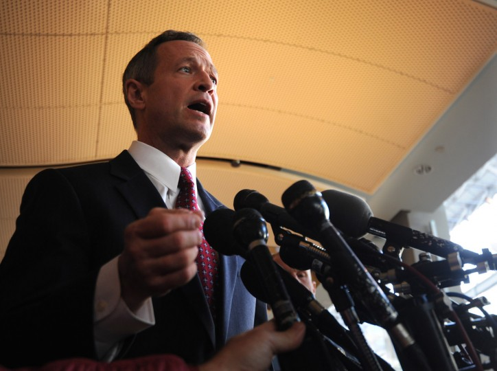 Gov. Martin O'Malley speaks to the press and the public in the food court at The Mall in Columbia after the weekend shootings. Photo by Algerina Perna/Baltimore Sun