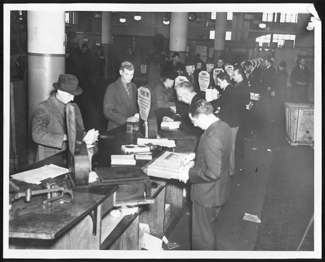 Sun file photo taken December 24, 1937.