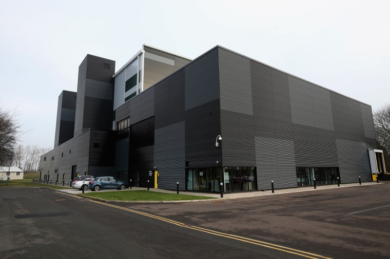 An exterior view of the new National Newspaper Archive on January 23, 2015 in Boston Spa, United Kingdom. The British Librarys brand new National Newspaper Building officially opened today. The newly built storage void holds 60 million newspapers and periodicals spanning more than three centuries. The temperature and humidity controlled store is operated by robot cranes and can retrieve newspapers from any time and date. The British Library spent six months moving the archive from its previous home in Colindale, north London. (Photo by Christopher Furlong/Getty Images)