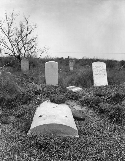 The town of Broadwater flourished for 100 years on the island. Its burying ground, a churchyard, has also fallen victim to the sea, which has laid open vaults of the dead. (A. Aubrey Bodine, Baltimore Sun)