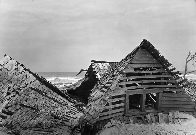 Hog Island, once home to a community of 250. (A. Aubrey Bodine, Baltimore Sun)