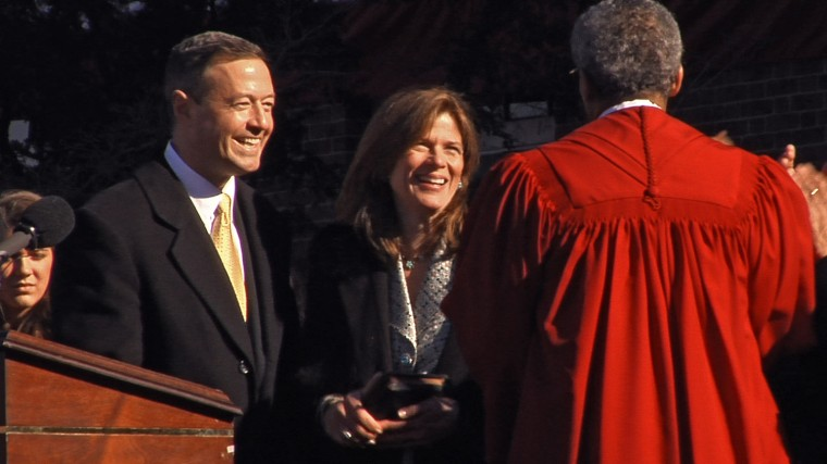 Maryland Governor Martin O'Malley during the public inauguration at the Maryland State House Wednesday, Jan. 17, 2007. (Baltimore Sun Staff/Karl Merton Ferron)