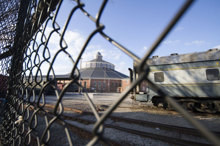 December 2014: The B&O Roundhouse, through the fencing in Pigtown. Kalani Gordon/Baltimore Sun