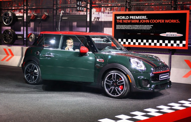 Mini reveals its new Mini John Cooper Works at The North American International Auto Show in Detroit, Michigan, on January 12, 2015. (JONATHAN KNIGHT/AFP/Getty Images)