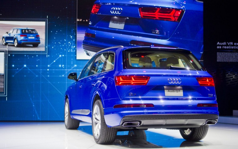 The new Audi Q7 is unveiled at the North American International Auto Show, Monday, Jan. 12, 2015, in Detroit. (AP Photo/Tony Ding)