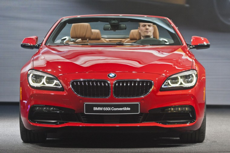 The new BMW 6 series convertible is presented at the North American International Auto Show, Monday, Jan. 12, 2015, in Detroit. (AP Photo/Tony Ding)