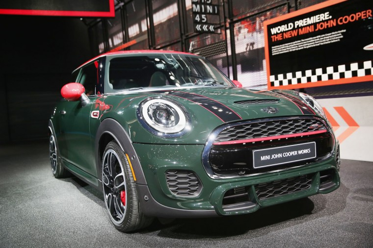 Mini introduces the new Mini John Cooper Works hardtop at the North American International Auto Show (NAIAS) on January 12, 2015 in Detroit. (Photo by Scott Olson/Getty Images)