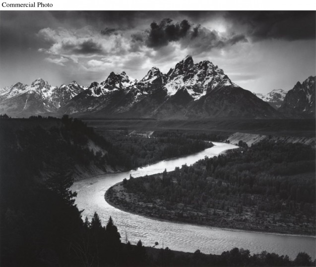 The Tetons and the Snake River, Grand Teton National Park, Wyoming, 1942. (PRNewsFoto/Bellagio Gallery of Fine Art, Ansel Adams)