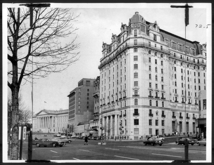 Feb. 11, 1979: The historic Willard Hotel on Washington's Pennsylvania Avenue, slated to be restored. (Sun file photo by Lloyd Pearson)