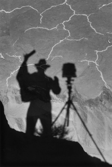 """Self-Portrait, Monument Valley, Utah"" (1958) is a rare self-portrait by famed photographer Ansel Adams. (The Lane Collection/Museum of Fine Arts, Boston/MCT)"