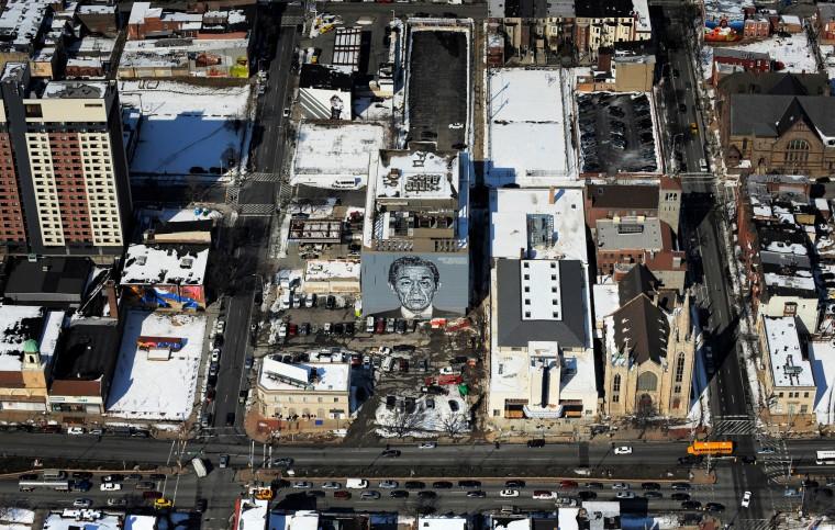A mural near North Avenue in Baltimore. (Lloyd Fox/Baltimore Sun)