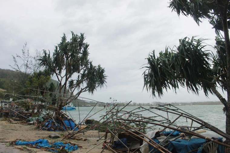 This handout photo taken on March 14, 2015 and released to AFP on March 15 by World Vision shows damage and debris, caused by Cyclone Pam, in the Vanuatu capital of Port Vila. Vanuatu's president made an emotional appeal for international assistance after his island nation was hit by a calamity of a cyclone, wreaking devastation in what is feared to be one of the region's worst weather disasters. Vanuatu declared a state of emergency on March 15, saying six people were confirmed dead as a result of the monster storm with the toll expected to rise. (World Vision/AFP/Getty Images)
