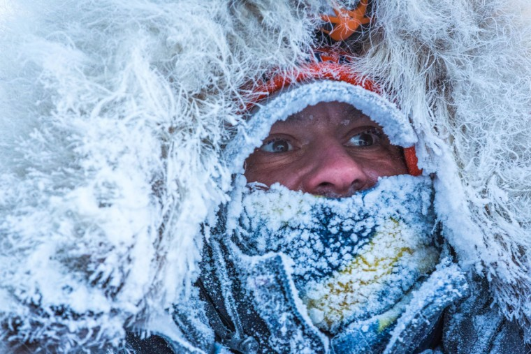 Tok musher Hugh Neff arrives in Kaltag, Alaska, during the Iditarod Trail Sled Dog Race, Sunday, March 15, 2015. (AP Photo/Alaska Dispatch News, Loren Holmes)
