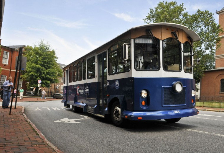 Annapolis' Circulator Trolley loops through downtown Naptown from Westgate Circle to Memorial Circle with stops at City Hall and City Dock. Rides are free inside the Central Business District and $2 if you're catching a game at Navy-Marine Corps Memorial Stadium. If you're looking for a more touristy experience in the state capital, Towne Transport offers 40- and 60-minute historic Annapolis trolley tours. Highlights include City Dock, State House, St. John's College and the waterfront. So, leave those maps in the glove box and let someone else do the driving. (There are also 90-minute history and sights tours available at Baltimore Trolley Tours.)