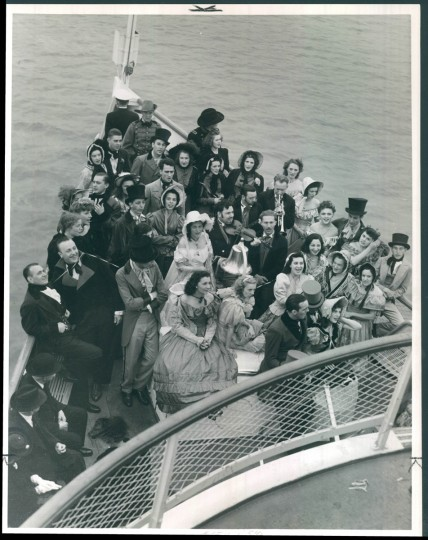 On the deck of the President Warfield on May 24, 1940. (Hans Marx/Baltimore Sun)