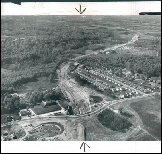 The beltway being built near York Rd. in Towson. (Robert Kniesche/Baltimore Sun, 1954)