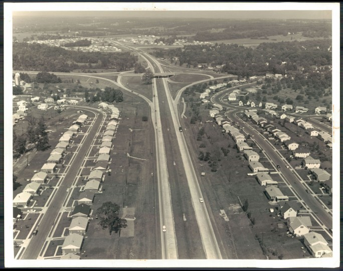 The beltway looking west past the interchange with Charles Street Ave. (William L. Klender/Baltimore Sun, 1961)