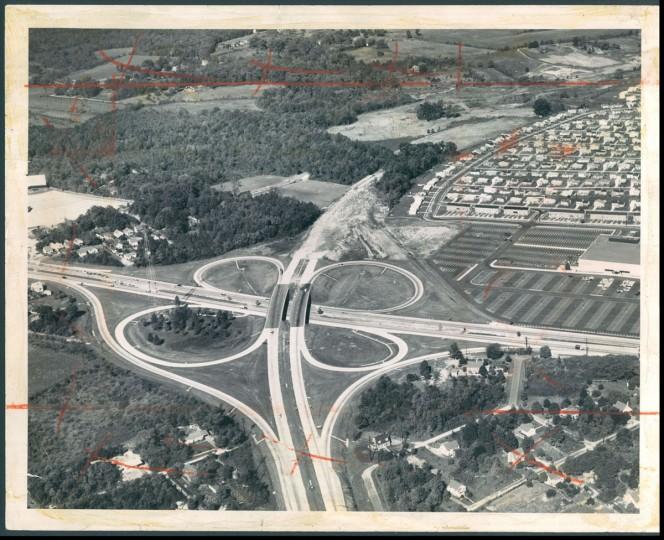 The beltway interchange at Route 40. (Robert F. Kniesche/Baltimore Sun, 1961)