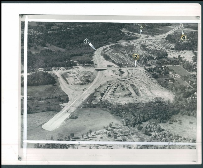 Beltway construction from October 23, 1955. (Baltimore Sun archives)