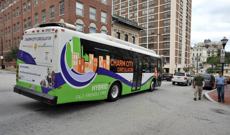 There is such a thing as a free ride for the rest of us when it comes to Baltimore's Charm City Circulator. It's probably more useful to tourists or as a connection to the next step in your commute. But, if you want to get to multiple attractions within the city in one day, this is a convenient way to do it. Billed as a green alternative that reduces congestion and pollution, the Circulator utilizes 30 free shuttles on four routes with stops at City Hall, Fells Point, Johns Hopkins University, Penn Station, Federal Hill, Hollins Market, Inner Harbor, Harbor East and Fort McHenry. More than 4 million people use the Circulator each year, but it was operating at an $11.6 million deficit at the end of last year and its future has been questioned. (Lloyd Fox/Baltimore Sun)
