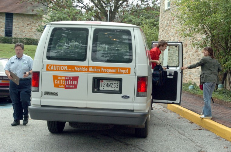 Area coeds in the know take advantage of the free Collegetown Shuttle, which transports students, staff and faculty to six local campuses -- Goucher College, Towson University, Loyola University Maryland, Notre Dame of Maryland University, Johns Hopkins University and Morgan State University. It'll also shuttle you to the Towson mall and Baltimore's Penn Station. All you need is a university ID. Talk about perks! (Kenneth K. Lam/Baltimore Sun)