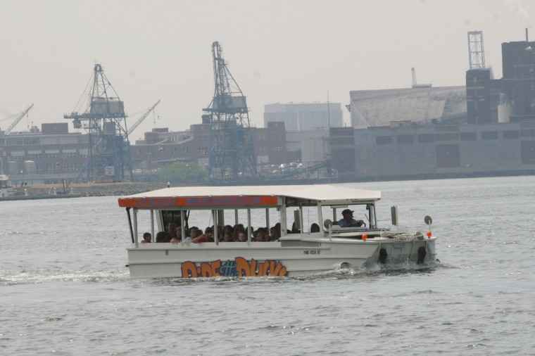 Quite possibly the tackiest -- or quackiest, at least -- way for tourists to experience Baltimore, the Ride The Ducks amphibious tours operated in the city for seven years in the early 2000s. The unmistakable, giant white vehicles were based on a World War II design that allowed them to roll along city streets and straight into the Inner Harbor to show tourists all the sights from land and water while they blew on little plastic quackers. The Branson, Mo., company discontinued the tours in Baltimore in 2009. -- Colin Campbell ( Mauricio Rubio/Baltimore Sun)
