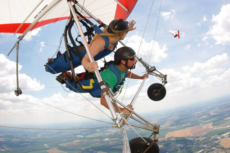 We used to require some steep slopes and high winds to make hang gliding a viable option for getting around, or at least for getting off a mountain the easy way. But, modern hang gliding advancements have made it easier to glide for hours. And Highland Aerosports on the Eastern Shore offers tandem instruction and solo aerotows, so go ahead and soar like an eagle. (Handout photo courtesy Aerosports)