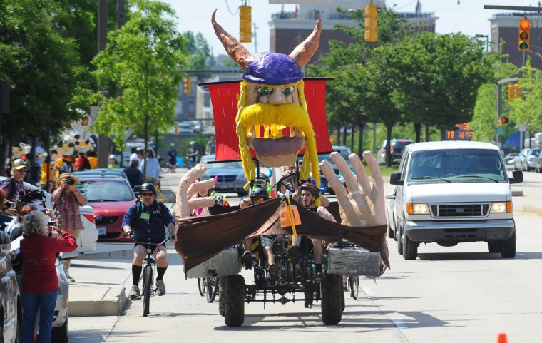 And the winner for the most creative way to get around is by kinetic sculpture. Be it in the form of FiFi the giant pink poodle or a less-recognizable papier-mache contraption. The hitch is these amphibious, human-powered works of art can only be used seasonally and all but guarantee a dip in the harbor. (Kenneth K. Lam/Baltimore Sun)