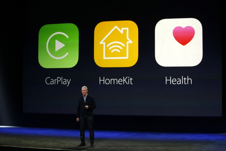 Apple CEO Tim Cook speaks on stage during an Apple special event at the Yerba Buena Center for the Arts on March 9, 2015 in San Francisco, California. (Photo by Stephen Lam/Getty Images)