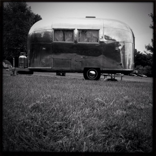 Ethel, a 1963 Airstream Bambi, parked at Pennsylvania's Codourus State park. At 16-feet in length, the Bambi has a towing weight of 1,850 pounds, which makes it light enough to be towed without an oversized truck. This makes it a much sought after model. A trailer similar to ours was added to New York's Museum of Modern Art collection in 2007. This was the first design iteration for the models still made today. (Christopher T. Assaf/Baltimore Sun)