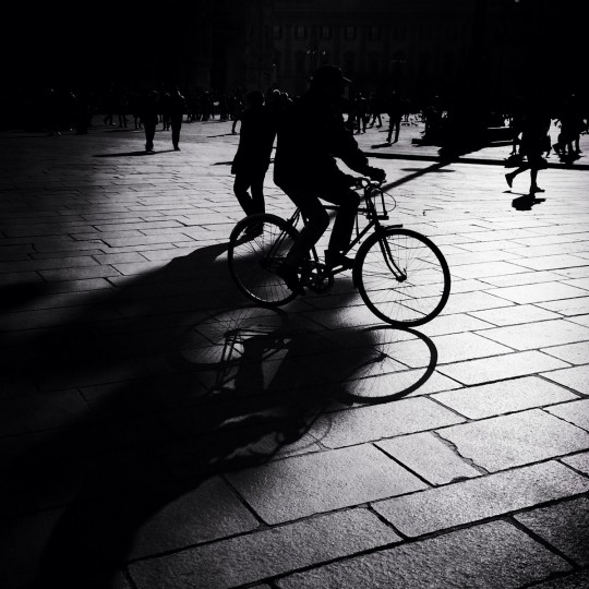 A man cycles on February 2, 2015 in Milan, Italy. Milan was named as the 2015 Universal Exposition hosting city. It will run from May 1 until October 31, 2015. (Photo by Vittorio Zunino Celotto/Getty Images)