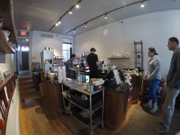 Coffee genius in action. I don't come here everyday, but it is always a treat.