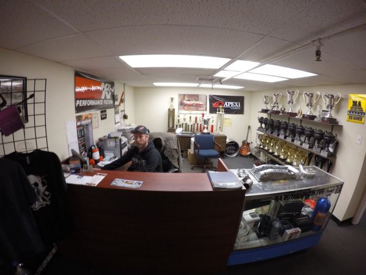 It's a family affair … This is Brian's brother, Jon Wilkerson, the shop manager. To his right are the fruits of our labor; thanks to MA, the trophy wall continues to grow.