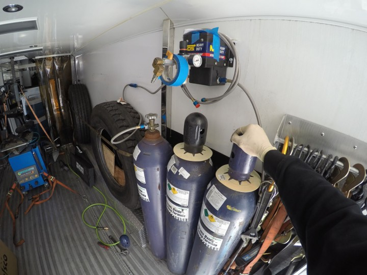 Loading time … First in, nitrous oxide (NOS) which gives us an extra 200 horsepower, putting us up around 1000hp total.
