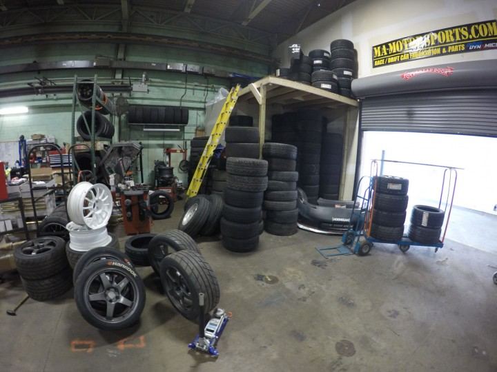 Did I mention we go through a lot of tires? I made a bit of a mess but I will clean it up guys, promise!