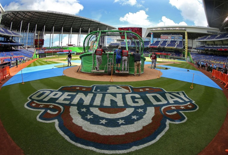 A general view of Marlins Park during Opening Day between the Miami Marlins and the Atlanta Braves on April 6, 2015 in Miami, Florida. (Photo by Mike Ehrmann/Getty Images)
