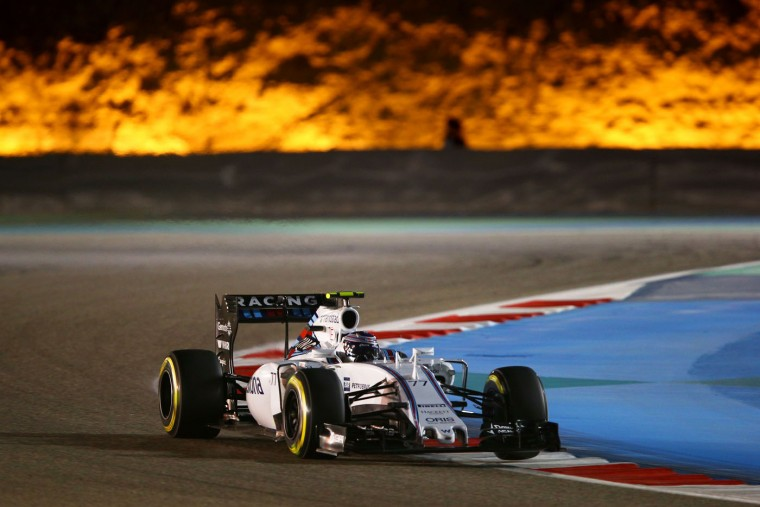 Valtteri Bottas of Finland and Williams drives during the Bahrain Formula One Grand Prix at Bahrain International Circuit on April 19, 2015 in Bahrain, Bahrain. (Mark Thompson/Getty Images)